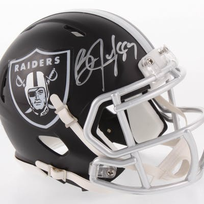 Bo Jackson Signed Oakland Raiders Blaze Speed Mini-Helmet (Radtke