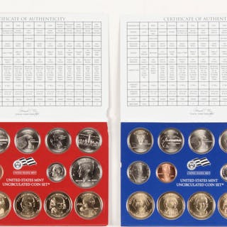 Lot of (2) 2007 Uncirculated Coin Sets with (1) Philadelphia Mint