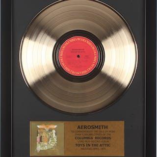 "Aerosmith ""Toys in the Attic"" 15.75x19.75 Custom Framed Vinyl Record Album"