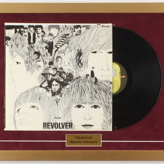 "The Beatles ""Revolver"" 18x24 Custom Framed Vinyl Record Display"