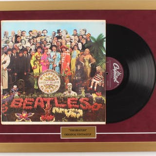 "The Beatles ""Sgt Pepper's Lonely Hearts"" 18x24 Custom Framed Vinyl"