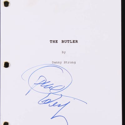 "Oprah Winfrey Signed ""The Butler"" Movie Script (Beckett COA)"