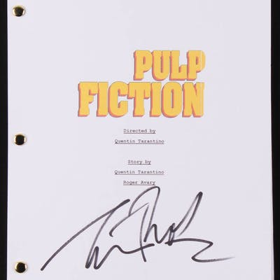 "Tim Roth Signed ""Pulp Fiction"" Movie Script (Beckett COA)"