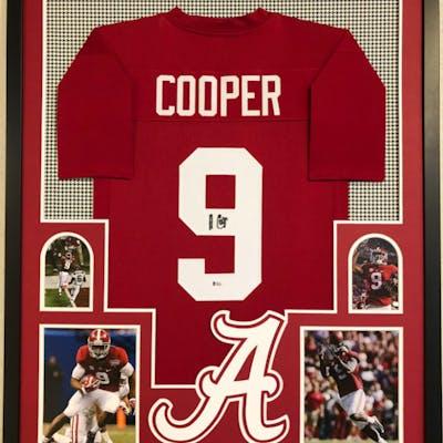 Amari Cooper Signed Alabama Crimson Tide 34x42 Custom Framed Jersey