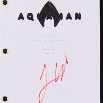 """James Wan Signed """"Aquaman"""" Movie Script (Beckett COA)"""