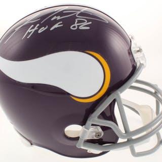Fran Tarkenton Signed Minnesota Vikings Full-Size Helmet Inscribed