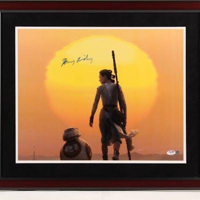 "Daisy Ridley Signed ""Star Wars: The Force Awakens"" 22x26 Custom Framed"