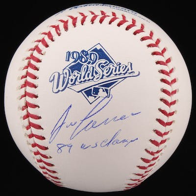 """Jose Canseco Signed 1989 World Series Logo Baseball Inscribed """"89"""