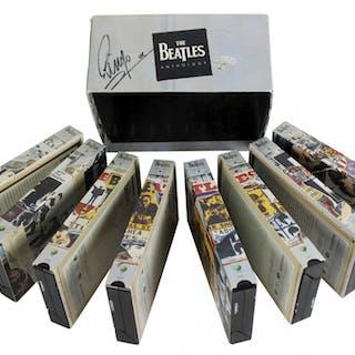 "Ringo Starr Signed ""The Beatles Anthology"" Complete VHS Set (Beckett LOA)"