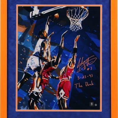 John Starks Signed New York Knicks 22x26 Custom Framed Photo Inscribed