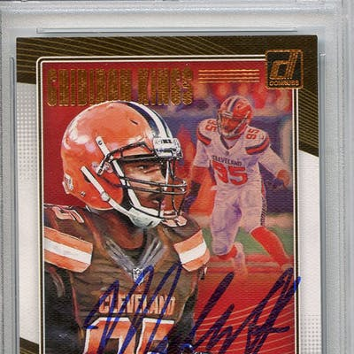 Myles Garrett Signed 2018 Donruss Gridiron Kings #11 (PSA Encapsulated)