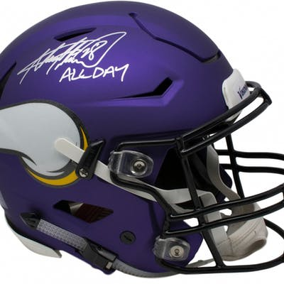 496463e7 Adrian Peterson Signed Minnesota Vikings Full-Size Riddell Authentic ...