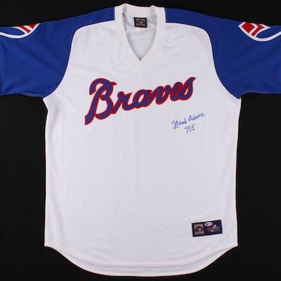 "Hank Aaron Signed Atlanta Braves Jersey Inscribed ""755"" (Beckett COA)"