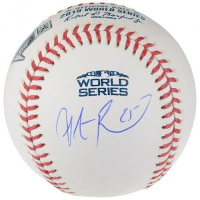 Steve Pearce Signed 2018 World Series Baseball (Fanatics Hologram)