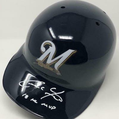 Christian Yelich Signed Milwaukee Brewers Full-Size Batting Helmet