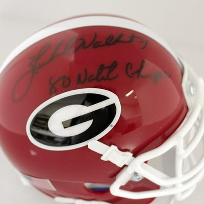 """Herschel Walker Signed Georgia Bulldogs Mini Helmet Inscribed """"80"""