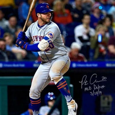 """Pete Alonso Signed New York Mets 16x20 Photo Inscribed """"MLB Debut"""