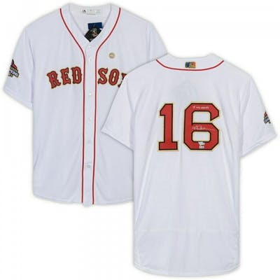 "Andrew Benintendi Signed Boston Red Sox Jersey Inscribed ""18 WS Champs"""