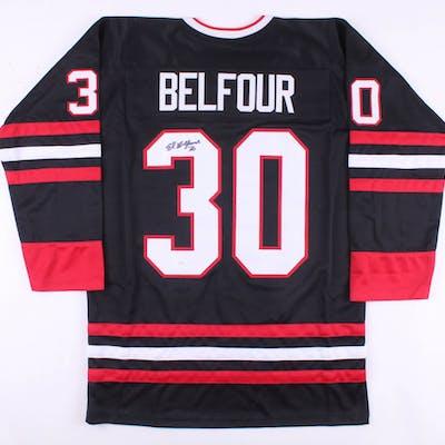 Ed Belfour Signed Chicago Blackhawks Jersey (JSA COA)