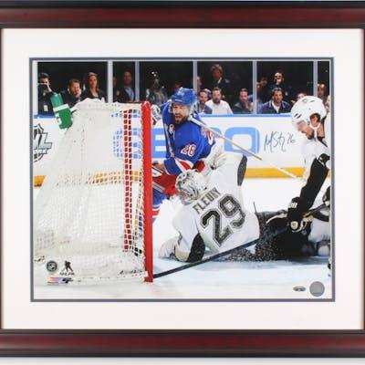 Martin St. Louis Signed New York Rangers 23x27 Custom Framed Photo