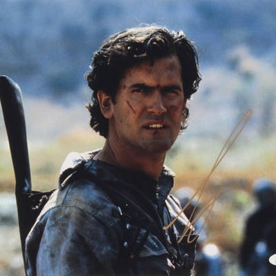"Bruce Campbell Signed ""Army of Darkness"" 11x14 Photo (JSA COA)"