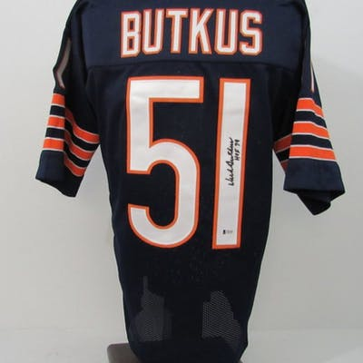 quality design 4249a 9573f Dick Butkus Signed Chicago Bears Jersey Inscribed