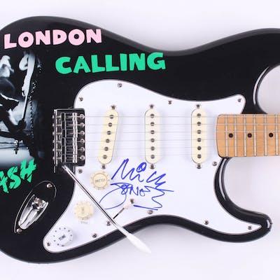 """Mick Jones Signed """"The Clash"""" Fender 39"""" Electric Guitar (JSA Hologram)"""