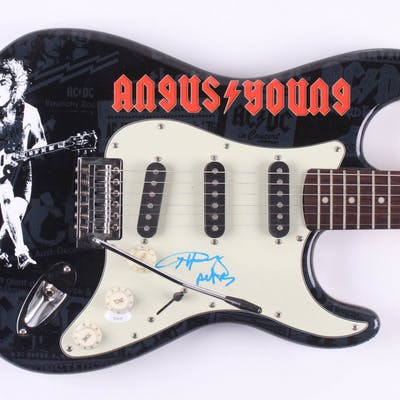 """Angus Young Signed """"ACDC"""" Fender 39"""" Electric Guitar (JSA Hologram)"""