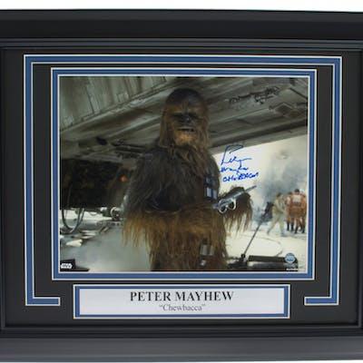 "Peter Mayhe Signed ""Star Wars: Empire Strikes Back"" 11x14 Custom Framed"