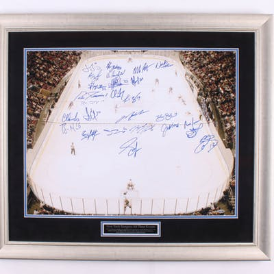 New York Rangers All-Time Greats 27.5x31.5 Custom Framed Photo Signed