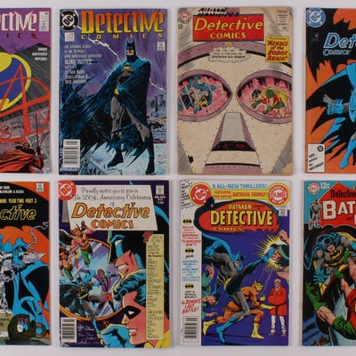 "Lot of (8) 1964-89 ""Detective Comics"" #324-#608 DC Comic Books"