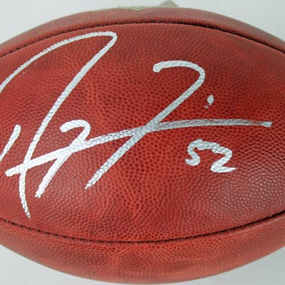 """Ray Lewis Signed """"The Duke"""" Official NFL Game Ball (PSA COA)"""