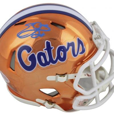 Emmitt Smith Signed Florida Gators Chrome Speed Mini Helmet (Beckett