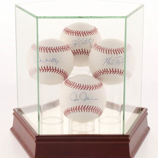 Lot of (4) OML Baseballs Signed By Tino Martinez, Don Mattingly, Mark