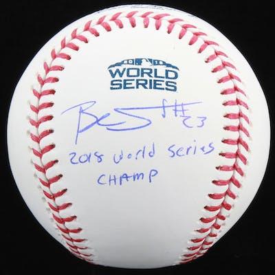 Blake Swihart Signed Official 2018 World Series Baseball Inscribed