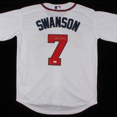 hot sale online 0cca2 e0009 Dansby Swanson Signed Atlanta Braves Jersey (JSA COA) | Barnebys