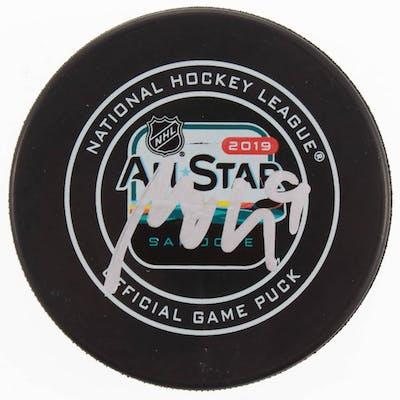 Miro Heiskanen Signed 2019 All-Star Game Logo Hockey Puck (Beckett COA)