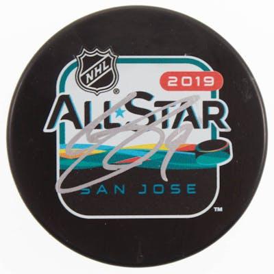 Clayton Keller Signed 2019 All-Star Game Logo Hockey Puck (Beckett COA)