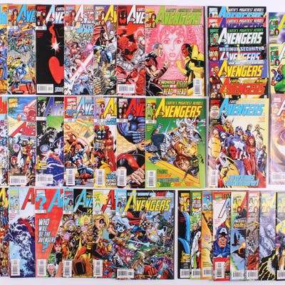 """Lot of (41) 1998-2003 """"Avengers"""" #1-#40, #64 Marvel Comic Books"""