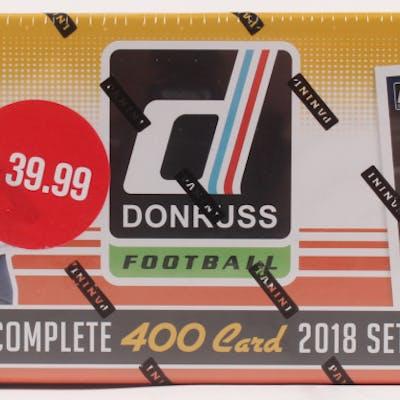 2018 Panini Donruss Football Factory Unopened Complete Set (Orange)