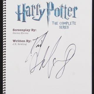"""Daniel Radcliffe Signed """"Harry Potter: The Complete Series"""" Movie"""