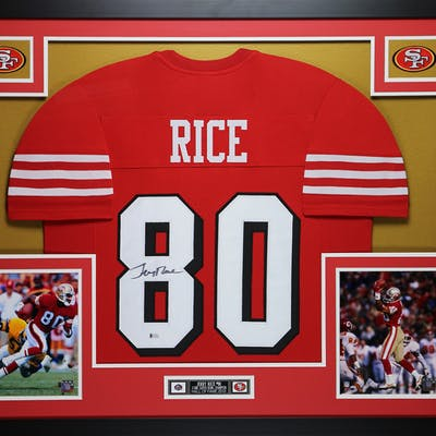 premium selection edf17 d61c8 Jerry Rice Signed San Francisco 49ers 35x43 Custom Framed ...