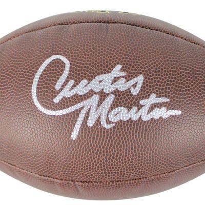 Curtis Martin Signed NFL Football (Beckett COA)