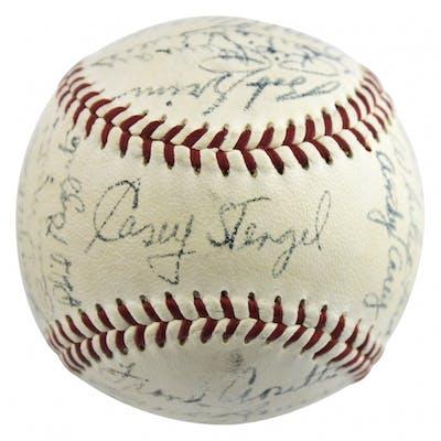 1955 New York Yankees Baseball Team-Signed by (26) with Yogi Berra