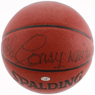 "Bob Cousy Signed NBA Basketball Inscribed ""NBA Top 50"" (JSA COA)"
