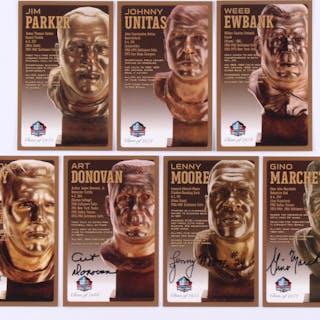 Lot of (7) Baltimore Colts LE NFL HOF Bronze Bust Collector Postcards