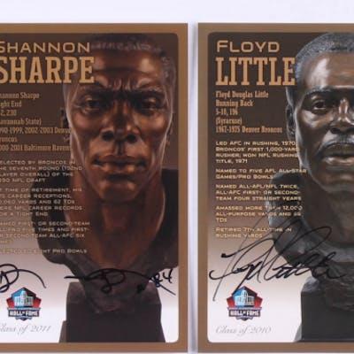 Lot of (4) Signed Denver Broncos LE NFL HOF Bronze Bust Collector