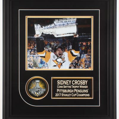 Sidney Crosby Signed Pittsburgh Penguins 1.75x16x20 Custom Framed
