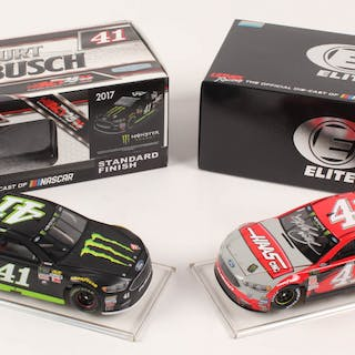Lot of (2) Kurt Busch LE 1:24 Scale Die Cast Cars with (1) Signed