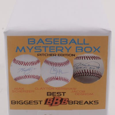 """""""Biggest Best Breaks"""" Baseball Picther Edition Mystery Box - Autographed"""